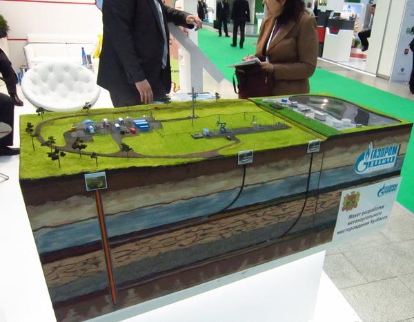 Макет разработки метаноугольного месторождения Кузбасса